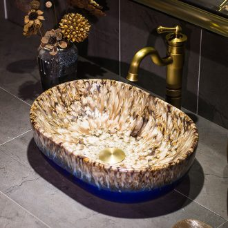 Jingdezhen up art stage basin ceramic sinks Europe type restoring ancient ways toilet stage basin that wash a face to wash your hands
