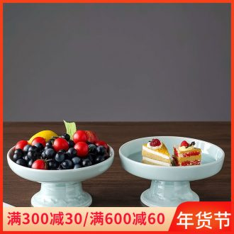 Jingdezhen ceramic best dim sum of fruit snacks, celadon home European creative desktop furnishing articles sitting room tea table
