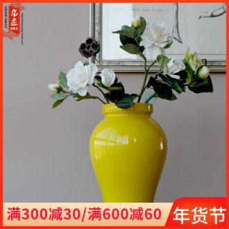 Jingdezhen ceramic vase furnishing articles grain dry flower flowers all over the sky star flower arranging a yellow water jar, sitting room home