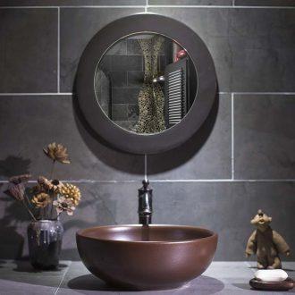 Jingdezhen art stage basin brown metal glaze ceramic lavatory restoring ancient ways round toilet stage basin of household