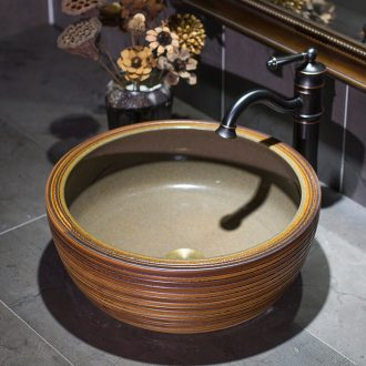 Ceramic toilet lavabo stage basin round art wood marble sinks contracted household restoring ancient ways