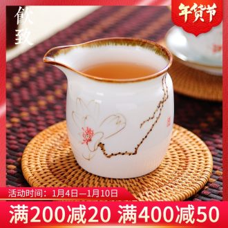 Ultimately responds to jingdezhen hand - made ceramic fair keller kung fu tea accessories pour tea cup and a cup of tea, Japanese sea points