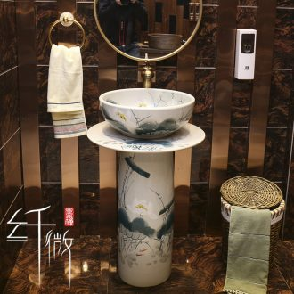 Patio is suing art basin floor archaize ceramic lavabo lavatory the post of new Chinese style one basin