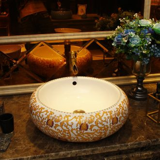 European ceramic stage basin sink square water contracted household bathroom art basin