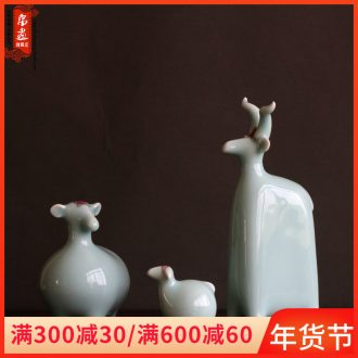 Zen three Yang kaitai Chinese style household act the role ofing is tasted contracted creative wine cabinet TV ark adornment ceramic its furnishing articles
