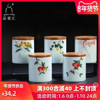 The Product porcelain send flowers blossom put celadon straight caddy fixings celadon enamel hand - made caddy fixings ceramic glaze