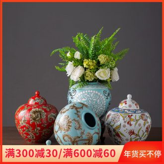 Ceramic storage tank furnishing articles home sitting room adornment ark, TV ark, decoration creative arts and crafts flower vase