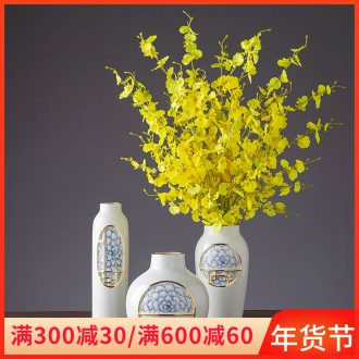 Ceramic vase continental simulation flower arranging place to live in the sitting room porch decoration new Chinese TV ark, soft decoration