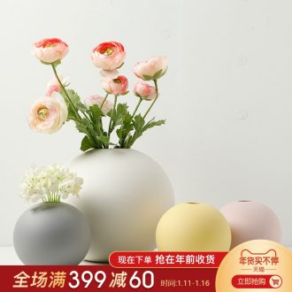 The Nordic idea contracted round vase furnishing articles dried flower arranging flowers sitting room desktop large - sized ceramic decorative flower implement suit