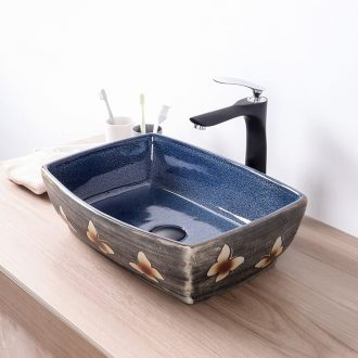 Ceramic lavabo stage basin of Chinese style is the oval lavatory toilet Europe type restoring ancient ways basin, art basin of household