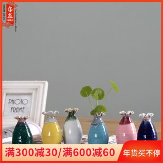 Small vase of jingdezhen ceramic up dried flower flower implement hydroponic creative contracted household adornment bedroom table furnishing articles