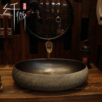 The stage basin oval on The sink basin ceramic art basin basin bathroom wash basin