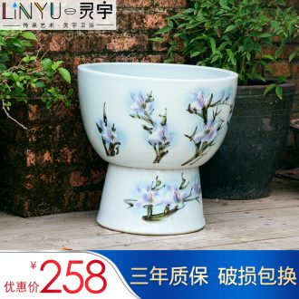Jingdezhen Chinese wind Chinese creative arts ceramic mop pool large balcony mop pool toilet bowl