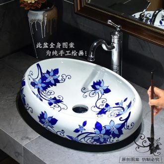 Basin sinks ceramic lavabo oval contracted art restoring ancient ways of toilet stage Basin Basin Basin of household