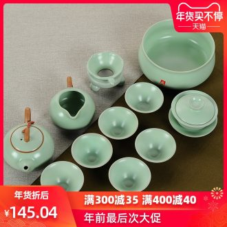 Passes on technique the up with your up to open the slice kung fu tea set the whole household porcelain ceramic tureen teapot teacup suits for