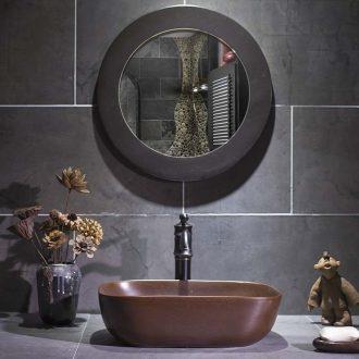 Jingdezhen brown metal glaze stage basin art square toilet lavatory ceramic lavabo household