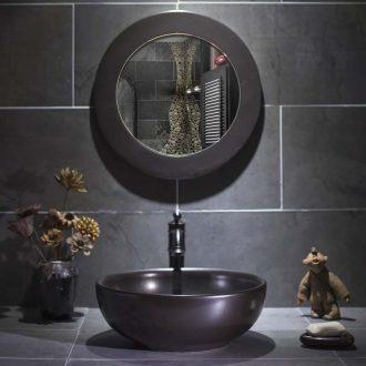 Black stage basin art antique metal glaze ceramic lavabo lavatory toilet wash basin