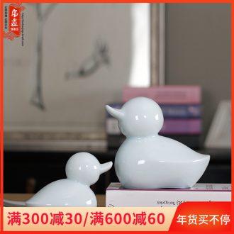 Creative rural style home sitting room decoration ceramics express little duck furnishing articles celadon desktop craft ornaments