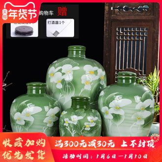 Jingdezhen ceramic jars 10 jins 20 jins 30 jins 50 jin carving by jars wine mercifully wine wine wine