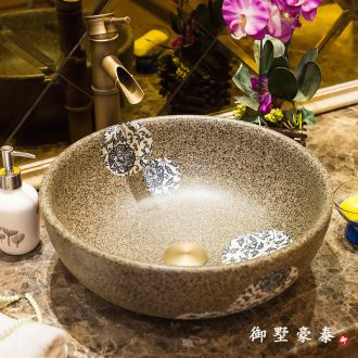 Toilet ceramic art stage basin round basin sink basin sinks the Mediterranean basin of vintage wash gargle