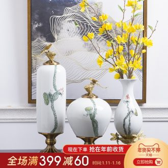 Jingdezhen hand - made creative ceramic vases, flower arrangement sitting room TV ark of new Chinese style porch home furnishing articles