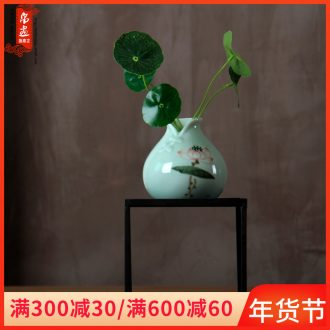 Small mini vase, jingdezhen ceramic Nordic manual creative contracted hydroponic water raise money plant flowers, furnishing articles