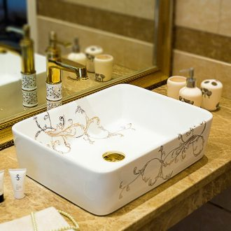 The stage basin square ceramic art lavabo creative lavatory basin bathroom toilet contracted for wash basin