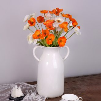The Nordic contracted ears lift pot of flower arrangement table vase in The sitting room porch creative ceramic household soft adornment is placed