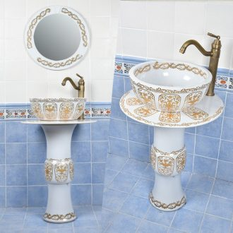 Toilet lavatory creative ceramic basin sink is suing balcony floor for wash basin