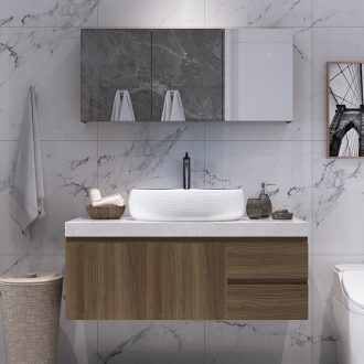 The Custom bathroom cabinet bathroom wash a face wash gargle units in marble counters Nordic ceramic sink cabinet