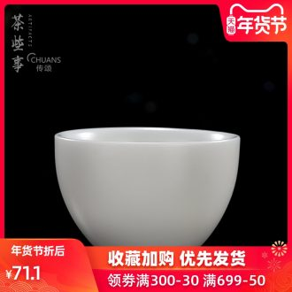 Famed kungfu master ceramic tea set tea cups little single CPU personal cup bowl dehua white porcelain cups