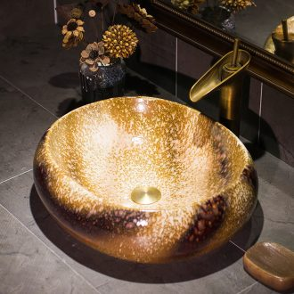 On the ceramic basin oval lavatory toilet stage basin of Chinese style restoring ancient ways of art basin On the sink