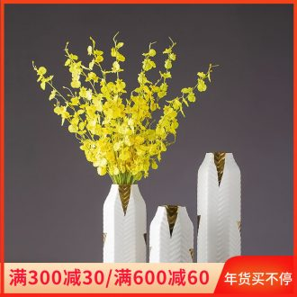 Jingdezhen ceramic vases, flower arranging creative household light European - style key-2 luxury furnishing articles, the sitting room porch example room table decoration