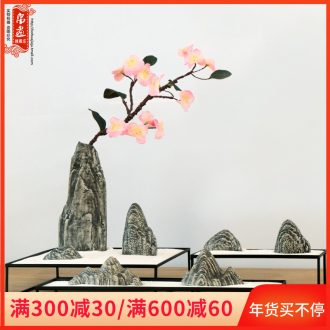 Chinese stone jingdezhen manual creative ceramic flower implement furnishing articles artistic move flower arranging flower rockery ornaments