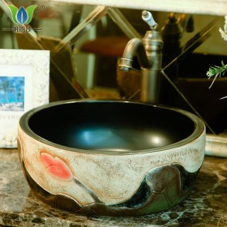The stage basin of Chinese style ceramic restoring ancient ways round The lavatory toilet lavatory basin basin sink The stage