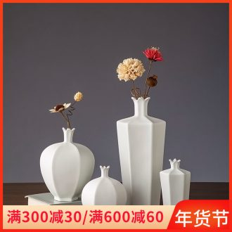 Vase furnishing articles flower arrangement sitting room adornment of jingdezhen ceramic flower implement I and contracted table decoration dried flowers, flowers