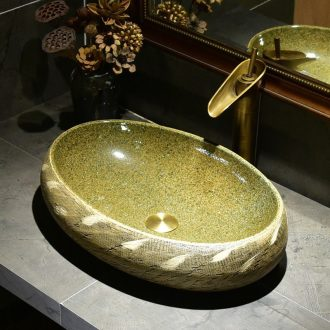 Jingdezhen continental basin lavatory toilet lavabo ceramics art stage household basin basin is contracted