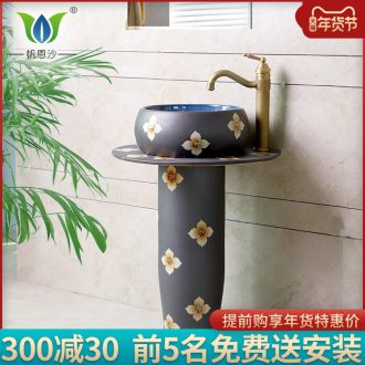 Pillar lavabo one - piece floor contracted conjoined ceramic art lavatory sink basin basin