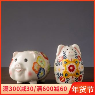 Piggy bank decorative furnishing articles adult children pocket money jar of jingdezhen ceramic creative gift express Piggy Banks