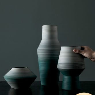 I and contracted soft outfit stylist art flower implement hotel example room sitting room of jingdezhen ceramic vase by hand