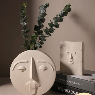 The modern face ceramic vase contracted sitting room art flower arranging dried flowers example room decoration light key-2 luxury furnishing articles
