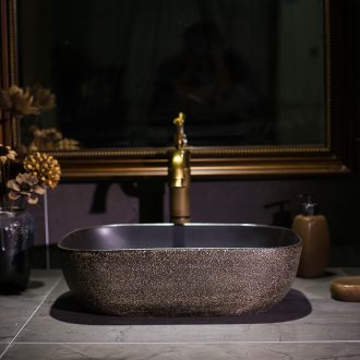 European art stage basin of jingdezhen ceramic lavatory basin restoring ancient ways is archaize basin rectangular basin that wash a face to wash your hands