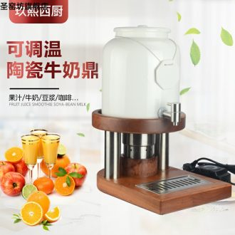 New 10 litres of ceramic and milk pot electric heated and cooled the two wood coffee juice ultimately responds those large capacity