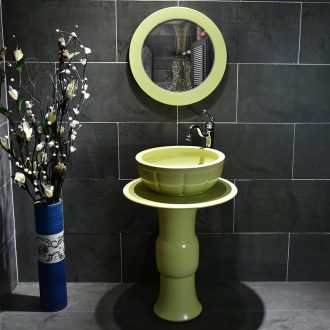 Jingdezhen pillar to use the lavatory floor is suing toilet lavabo one pillar type ceramic wash basin