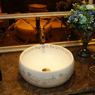 The stage basin sink square household lavatory ceramic art basin round The pool that wash a face basin toilet basin