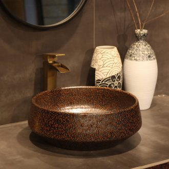 Package mail basin on European archaize ceramic art basin sink basin of Chinese style black 秞 ideas