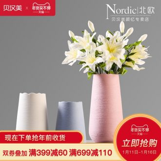 I and contracted vase furnishing articles sitting room flower arranging color drawing ceramic vases, Nordic home dried flower adornment