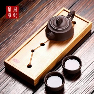 Kung fu tea set suit household ceramics portable tea tea tea accessories creative office contracted to travel