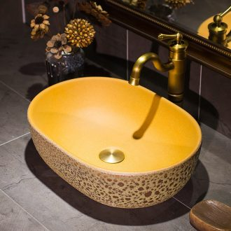 European art stage basin ceramic lavatory toilet American oval face basin basin stage basin that wash a face to wash your hands