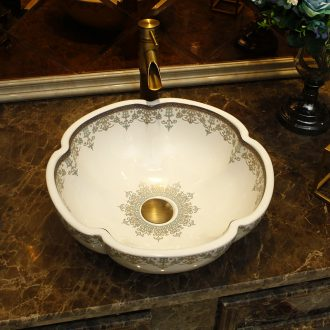 Happens to the sink bathroom ceramic art basin of Europe type restoring ancient ways the oval face basin basin lavatory basin on stage